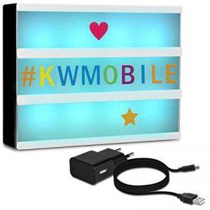 kwmobile Boîte lumineuse LED A4-7 changements de couleur 126 caractères colorés - Boîte à lumière personnalisable prise micro USB de la marque kwmobile image 0 produit