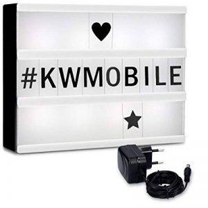 kwmobile Boîte lumineuse LED A4 - Light box avec 252 lettres chiffres symboles en noir - Panneau lumineux déco cinéma avec câble et prise secteur de la marque kwmobile image 0 produit