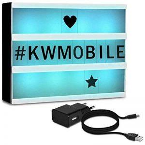 kwmobile Boîte lumineuse LED A5 avec changement de couleur - avec 7 couleurs et 126 caractères noirs prise micro USB tableau cinéma - Décoration lumineuse fonctionnement sur batterie de la marque kwmobile image 0 produit