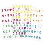 kwmobile Ensemble de lettres pour caisson lumineux A6-126 caractères - Ensemble pour le caisson lumineux LED - Symboles et chiffres colorés - 6 couleurs - Lot supplémentaire de la marque kwmobile image 4 produit