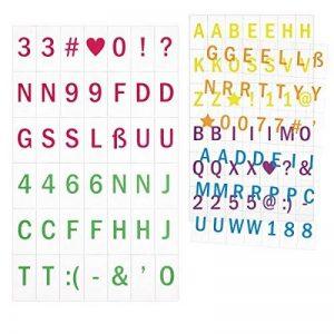 kwmobile Ensemble de lettres pour caisson lumineux A6-126 caractères - Ensemble pour le caisson lumineux LED - Symboles et chiffres colorés - 6 couleurs - Lot supplémentaire de la marque kwmobile image 0 produit