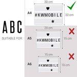 kwmobile Set 105 caractères noirs - Lettres en noir pour boite à lumière cinéma A4 - Ensemble lettres symboles et chiffres pour box lumineuse LED de la marque kwmobile image 3 produit