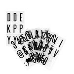 kwmobile Set 105 caractères noirs - Lettres en noir pour boite à lumière cinéma A4 - Ensemble lettres symboles et chiffres pour box lumineuse LED de la marque kwmobile image 4 produit