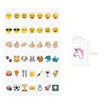 kwmobile Set de 126 emoji - Diapositives emoji couleur pour boîte à lumière cinéma A4 - Complément smiley symboles pour boite lumineuse LED de la marque kwmobile image 3 produit