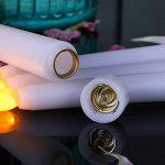 Lacgo (lot de 6) 27,9cm LED sans flamme Taper Bougie pour dîner, vacillante sans flamme Bougies coniques, LED à piles Table Table Mariage de fête d'anniversaire de la marque LACGO image 1 produit