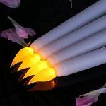 Lacgo (lot de 6) 27,9cm LED sans flamme Taper Bougie pour dîner, vacillante sans flamme Bougies coniques, LED à piles Table Table Mariage de fête d'anniversaire de la marque LACGO image 3 produit