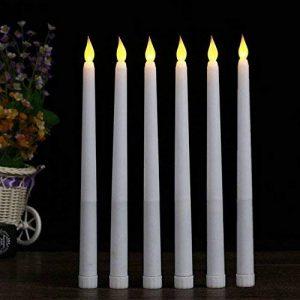 Lacgo (lot de 6) 27,9cm LED sans flamme Taper Bougie pour dîner, vacillante sans flamme Bougies coniques, LED à piles Table Table Mariage de fête d'anniversaire de la marque LACGO image 0 produit