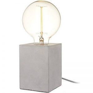 Lampe Cube Béton Gris Ampoule à filament incluse Fil gainé tissu La chaise longue 36-2L-010 de la marque Neoly image 0 produit