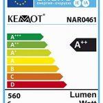 Lampe d'atelier avec loupe KEMOT NAR0461, Éclairage, 5pouces, 10cm, 60 LED 5W, Verre, Blanche. de la marque Kemot image 2 produit