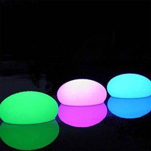 Lampe déco galet lumineux qui change de couleur - 12 cm de la marque Touslescadeaux image 0 produit