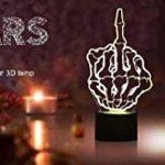 Lampe de chevet 3D doigt d'honneur - Connecteur USB - Change de couleur au toucher (7 couleurs) de la marque Jawell image 3 produit