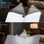Lampe de Lecture, AMIR Portable LED Lampe de Lecture, 2*4 Led, Rechargeable et Flexible, 5-niveaux de Luminosité, Câble USB Inclus, Lumière Voyage, Lampe Clips avec Support(Blanc) de la marque AMIR image 1 produit
