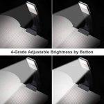 Lampe de lecture à DEL, Lampe de lecture à DEL, Lampe de lecture flexible rechargeable et à luminosité réglable USB, Lampe de lecture puissante à DEL XtraFlex DEL, Noir de la marque Bashley image 1 produit