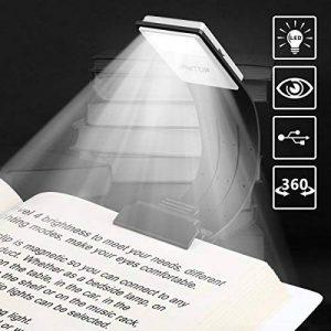 Lampe de Lecture, Lampes de Livre, Liseuse, Lampe Rechargeable de Livre de LED Avec L'agrafe et la Luminosité Réglable 4 pour Concevoir des Lumières de Tâche Portatives et Flexibles pour le Kindle d'Amazone / eBook Reader / livre / iPad etc. de la marque image 0 produit
