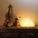 Lampe delecture pliante, rechargeable par USB, lumière LED magnétique en bois, lumières décoratives, lampe de table, lampe de bureau avec batterie lithium 880 mAh de la marque MonoDeal image 2 produit