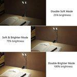 lampe de lecture rechargeable, PEMOTech 8 LED lampe de lecture,Col de cygne Silicone Flexible,luminosité rechargeable 5 niveaux lampe avec USB câble et AC adaptateur pour enfant, bureau, pupitre, lit de la marque PEMOTech image 2 produit