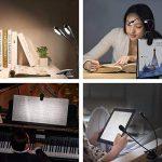 lampe de lecture rechargeable, PEMOTech 8 LED lampe de lecture,Col de cygne Silicone Flexible,luminosité rechargeable 5 niveaux lampe avec USB câble et AC adaptateur pour enfant, bureau, pupitre, lit de la marque PEMOTech image 1 produit