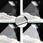 Lampe de Lecture USB, Etmury Lampe Livre LED Rechargeable Lampes-clips Réglable 4 Luminosité Lampe Pince Pliable pour Livres, eReaders, Kindle, iPad, Voyage, Ordinateurs Portables,etc. (Noir) de la marque Etmury image 1 produit