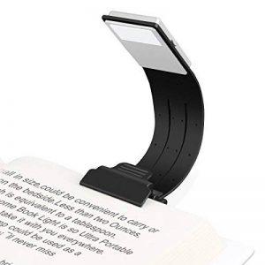 Lampe de Lecture USB, Etmury Lampe Livre LED Rechargeable Lampes-clips Réglable 4 Luminosité Lampe Pince Pliable pour Livres, eReaders, Kindle, iPad, Voyage, Ordinateurs Portables,etc. (Noir) de la marque Etmury image 0 produit
