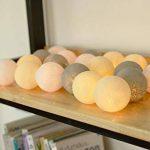 Lampe de nuit grise 20 cordes de boule de coton LED Mariage à piles et décoration de fête Lumière blanche chaude (gris chaud) de la marque I Love Handicraft image 2 produit