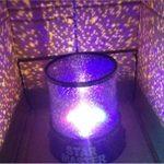Lampe de Projecteur Générique Coloré Crépuscule Romantique Etoile du Ciel Lampe de Nuit Lumineux Etoilé LED Enfants Lumière de Lit pour Lumière de Noël (Violet) Decor Komener de la marque Komener image 2 produit