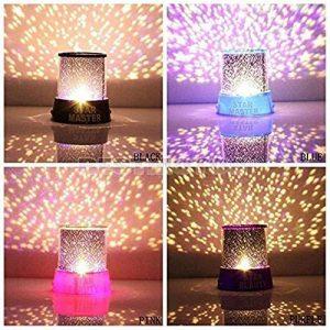 Lampe de Projecteur Générique Coloré Crépuscule Romantique Etoile du Ciel Lampe de Nuit Lumineux Etoilé LED Enfants Lumière de Lit pour Lumière de Noël (Violet) Decor Komener de la marque Komener image 0 produit