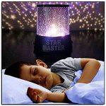 Lampe de Projecteur Générique Coloré Crépuscule Romantique Etoile du Ciel Lampe de Nuit Lumineux Etoilé LED Enfants Lumière de Lit pour Lumière de Noël (Violet) Decor Komener de la marque Komener image 4 produit