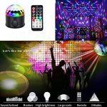 Lampe de Scène, Lumière Fête 9W 9 couleurs Éclairage Soirée Boule Disco Avec Bluetooth Président USB de charge sans fil de connexion de téléphone à télécommande Commande Sonore Projecteur Effet Spot DJ Éclairage pour Cadeau Scène Fête Soirée DJ Disco Bars image 2 produit