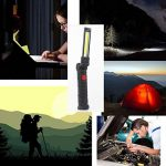 Lampe de Travail Cob Rechargeable Lampe d Inspection Led Sans Fil with Magnetic Base Avec Crochet 5W 1800mAh Batterie 5 Modes D'éclairage Pour Atelier Mécanique Camping Garage Voiture éclairage de Secours (Gros) de la marque Dealbay image 3 produit