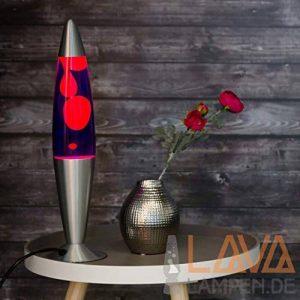 Lampe à lave 42cm/lampe Magma Lave Applique/Lampe à lave Violet Orange/lampe à lave Lollipop/E1425W/Câble avec interrupteur/Idée cadeau noël/avec ampoule incluse/Rétro Applique de la marque Licht-Erlebnisse image 0 produit