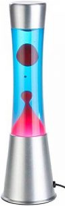 Lampe à lave en verre et aluminium - Rouge / Bleu de la marque Lunartec image 0 produit