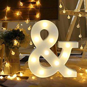 Lampe LED Uxpiang en forme de lettre pour proposition de mariage romantique - Blanc - À poser ou à suspendre, &, zoll de la marque Upxiang image 0 produit