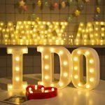 Lampe LED Uxpiang en forme de lettre pour proposition de mariage romantique - Blanc - À poser ou à suspendre, &, zoll de la marque Upxiang image 2 produit