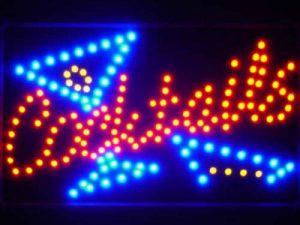 LAMPE NEON ENSEIGNE LUMINEUSE LED led040-r Cocktails Bar LED Neon Light Sign Whiteboard de la marque AdvPro LED image 0 produit