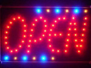 LAMPE NEON ENSEIGNE LUMINEUSE LED led119-r OPEN NEW Style Led Neon Sign WhiteBoard de la marque AdvPro LED image 0 produit