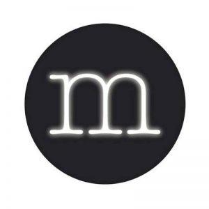 Lampe néon en Forme de Lettre M, 30cm de hauteurx 18 cm de la marque Seletti image 0 produit
