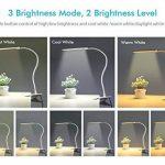 Lampe à pince OxyLEDà 24LED, modèle T34, à intensité variable - Lampe de bureau pour confort des yeux en col de cygne flexible, 2 niveaux de luminosité et 3 couleurs de lumière - Lampe de chevet pour lire, étudier, travailler, pour chambre à coucher - B image 1 produit