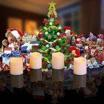 Lampes à thé à LED à batterie 12Pcs, petite bougie à thé électrique Falsique, Sans Flamme Bougie à Boucles d'oreille Votive à lumière chaude et scintillante pour fêtes, décoration intérieure, mariages et fêtes de la marque QHYK image 4 produit