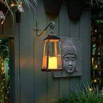 Lanterne Antique avec Bougie LED Blanc Chaud Effet Vacillant 30 cm à Pile Intérieur Extérieur (Bronze) de la marque Festive Lights image 2 produit