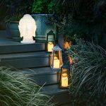 Lanterne Antique avec Bougie LED Blanc Chaud Effet Vacillant 30 cm à Pile Intérieur Extérieur (Bronze) de la marque Festive Lights image 3 produit