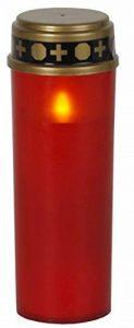 """'Lanterne Funéraire LED """"Serene flackernd Rouge env. 21x 7cm de la marque Best Season image 0 produit"""