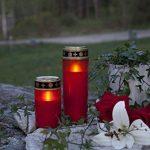"""'Lanterne Funéraire LED """"Serene flackernd Rouge env. 21x 7cm de la marque Best Season image 3 produit"""