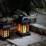 Lanterne Solaire Décorative Noir Mat avec Bougie LED Effet Vacillant (Pile Rechargeable Incluse) Waterproof - 27cm de la marque Festive Lights image 1 produit
