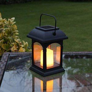 Lanterne Solaire et Bougie LED Effet Vacillant 15cm (Pile Rechargeable Incluse) de la marque Festive Lights image 0 produit