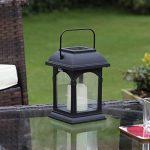 Lanterne Solaire et Bougie LED Effet Vacillant 15cm (Pile Rechargeable Incluse) de la marque Festive Lights image 1 produit