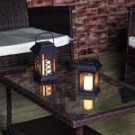 Lanterne Solaire et Bougie LED Effet Vacillant 15cm (Pile Rechargeable Incluse) de la marque Festive Lights image 4 produit