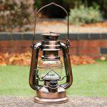 Lanterne Tempête LED - Lampe Decorative à Pile, Lanterne Bronze Vintage Retro pour Camping Maison Table Déco de PK Green de la marque PK Green image 1 produit