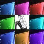LE Lighting EVER 2m Ruban Lumineux LED TV, Bande Lumineuse, Multicolore Etanche RGB Dimmable pour Rétroéclairage HDTV Ecran Moniteur PC Meuble Bureau Cuisine Cabinet Armoire Chambre Salon de la marque Lighting EVER image 2 produit