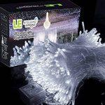LE Lighting EVER 3m*3m Rideau Lumineux, Guirlande Lumineuse LED, 8 Modes Lumière Blanc Froid, avec Adaptateur Secteur, 306 LEDs Lumière Ambiante Décorative pour Mariage Fêtes Chambre Salon Balcon Terrasse Parvis Pergola de la marque Lighting EVER image 1 produit
