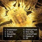LE Lighting EVER 3m*3m Rideaux Lumineux, Guirlande LED Extérieure, Lumière Dimmable Réglable Blanc Chaud, à Piles ou USB, 8 Modes Résistant pour Décoration Intérieure Extérieure Chambre Terrasse Balcon Pergola de la marque Lighting EVER image 1 produit
